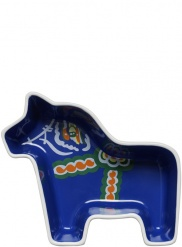 Dala horse serving bowl, small