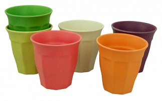 CUPFUL OF COLOUR large cups set/6 RBW