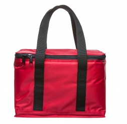 Holiday cooler bag small red