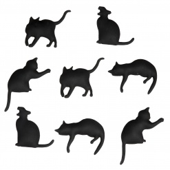 Kitty Magnet Set Of 8 Black Xxx