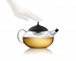 Glass teapot with a built-in tea egg