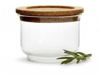 Nature glass jar small
