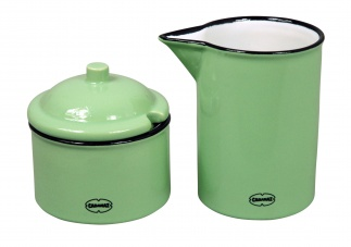 Cabanaz SUGAR & MILK SET Vintage green