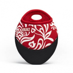 Pot Holder Cranberry Red Damask