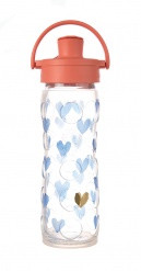 16oz/475ml Glass Bottle with Active Flip Cap - Blu Crush