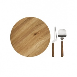 Lazy Susan set, oak