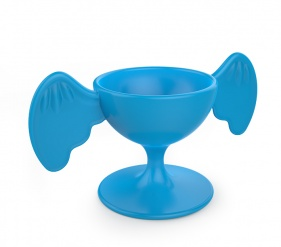 ZOO Egg cup Bird Bleu