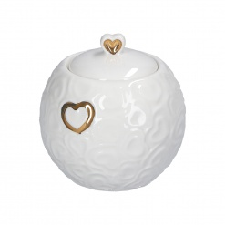 Valentino Oro  Sugar Bowl With Lid And Spoon 9 Oz Gb