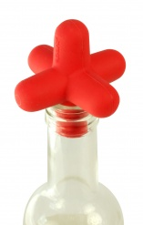 Spark Bottle stopper for wine, champagne, beer bottles - red