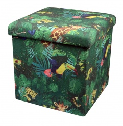 OTTOMAN foldable storage Tropical