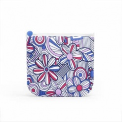 Sandwich and Snack Bag Pack  Mosaic Flower - Blue