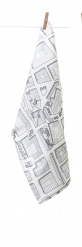 Tea Towel Sweden from above City Grey