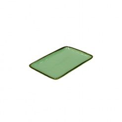 CONCERTO (Tiffany Green) VERDE ACQUA Rectangular Tray Ø 20 cm; W 13 cm