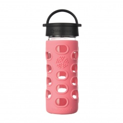 Lifefactory 12 oz Glass Bottle Core 2.0 - Coral