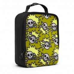 Neoprene Lunch Box  Skeleton Army - Olive