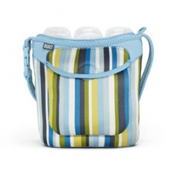 Bottle Buddy: Three Bottle Tote Baby Blue Stripe