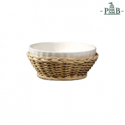 Wicker For Pieve Ribbed Bowl Cm 20