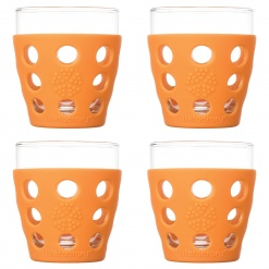 Lifefactory 10oz Beverage Glass - 4pk - Orange