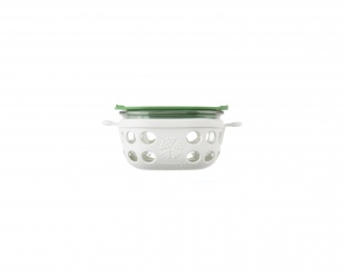 Lifefactory 1 cup Glass Food Storage - Optic White/Grass Green