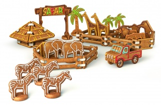 Gingerbread Safari Park, Set Of Cookie Cutters Delicia