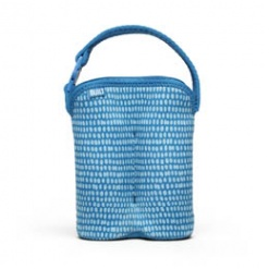 Bottle Buddy: Two Bottle Tote Dribble Dots Blue