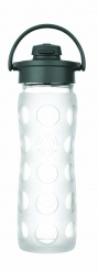 Lifefactory 16oz Glass Bottle with Flip Cap - Clear