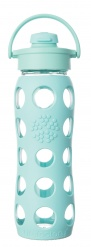 Lifefactory 22oz Glass Bottle with Flip Cap - Turquoise