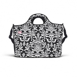 Duffle Tote - Large Damask Black & White