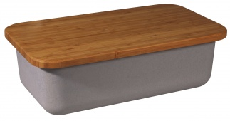SAVE MY BREAD bin+cutting board Grey