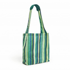 Reusable Shopper  Emerald Stripe