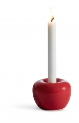 """Apple"" Candleholder Medium Red"