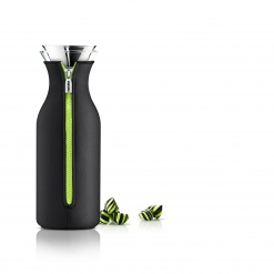 Fridge carafe 1.0l black/lime