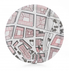 Plywood Tray Round City  31 cm