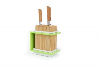 Fakir Bamboo knives holder - Green