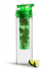 Fresh bottle with fruitpiston green