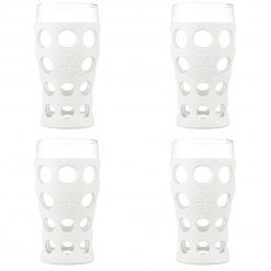 Lifefactory 20oz Beverage Glass - 4pk - Optic White