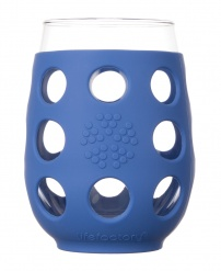 Lifefactory 17oz Wine Glass - 2pk - Cobalt