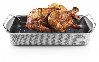 Roasting pan with rack 30x22 cm