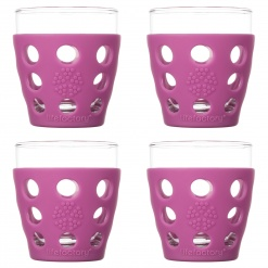Lifefactory 10oz Beverage Glass - 4pk - Huckleberry