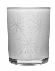 Winter tealight holder white