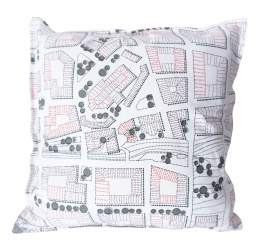 Pillowcase Sweden from above City