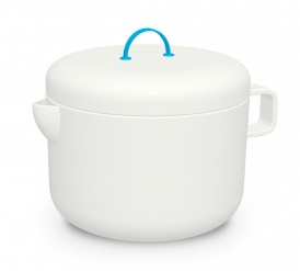 Promenade Porcelain tea pot + stainless steel strainer