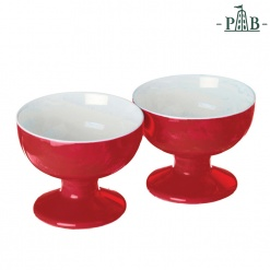Convivio Set 2 Footed Bowls D.9.5X7 R Gb