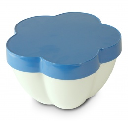 Flor Salad bowl, dips, tray 25 cm - blue