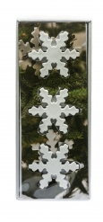 Christmas decorations, snow flake 3 pices