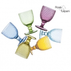 OPERA 6 WINE GLASSES MIX COLOURS