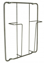 FRAME-1 Magazine wall rack stainless steel finish
