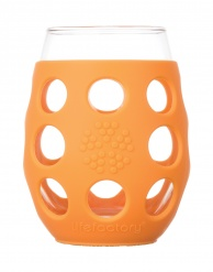 Lifefactory 11oz Wine Glass - 2pk - Orange
