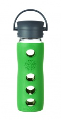 Lifefactory 16oz Glass Travel Mug with Cafe Cap - Teal