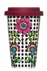 Bloom travel mug with silicone lid